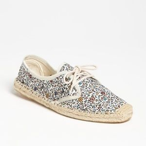 Soludos Floral Print Lace Up espadrille.